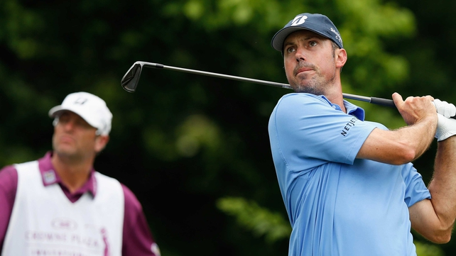 Matt Kuchar is on top at the The Barclays in Jersey