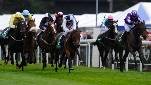 Banoffee (r), seen here racing to victory in the Cheshire Oaks at Chester, will take her place in the Epsom Oaks