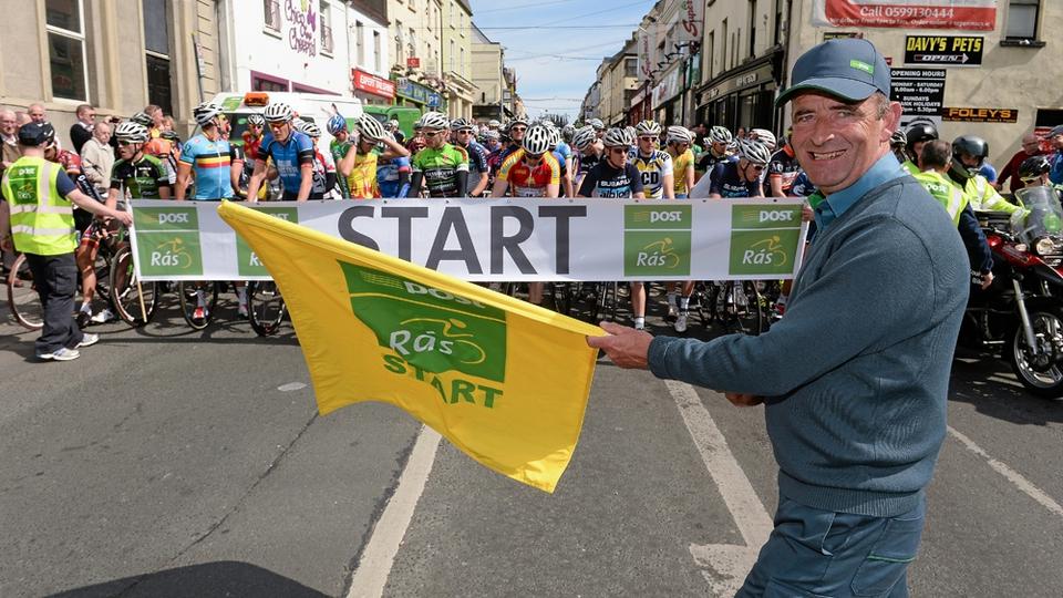 Carlow postman John Walsh starts stage seven.