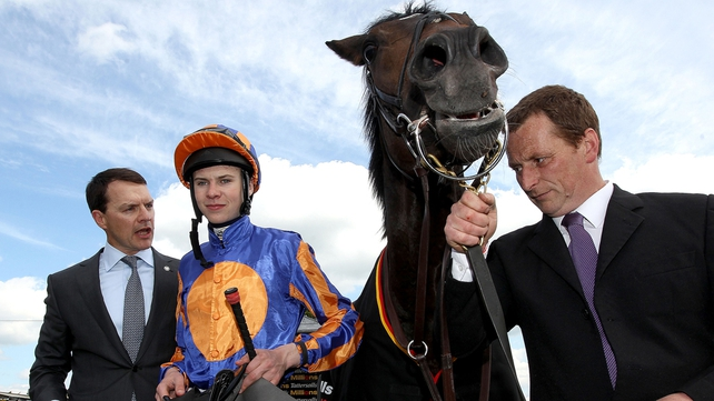 Aidan and Joseph O'Brien teamed up to score with Perhaps