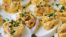 BBQ deviled eggs