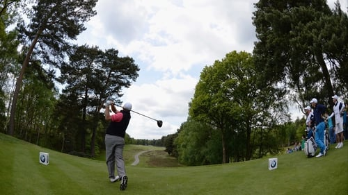 Shane Lowry in action during the third round at Wentworth