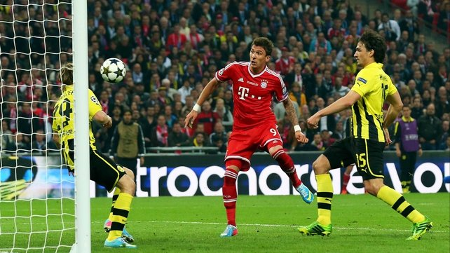 Mario Mandzukic opened the scoring for Bayern Munich at Wembley