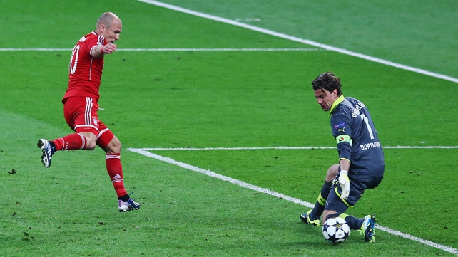 Arjen Robben completed his Champions League redemption by scoring the winning goal in London