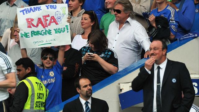 At least one Chelsea fan warmed to Benitez.