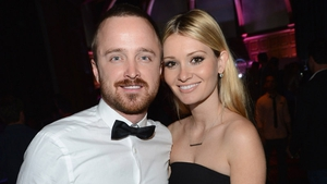 Aaron Paul and wife Lauren Parsekian