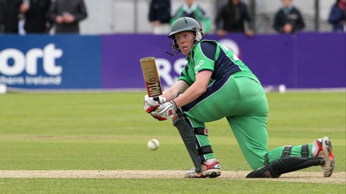Kevin O'Brien took three wickets for Ireland and made 30