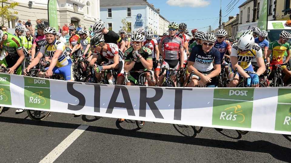 A general view of the start of Stage 8 of the 2013 An Post Rás in Naas.