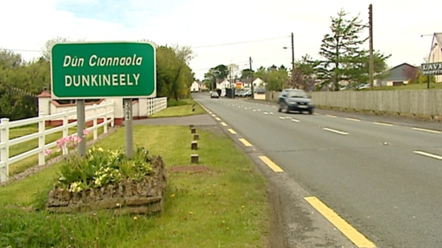 The collision between a van and a car happened at Dunkineely in Co Donegal