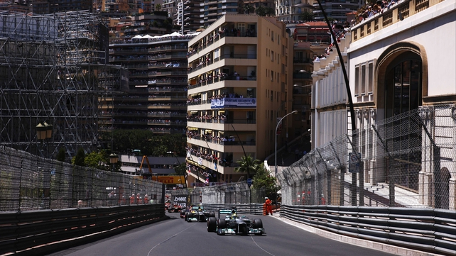 Nico Rosberg led all the way in the Monaco Grand Prix