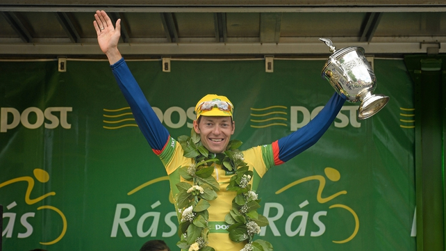 Marcin Bialoblocki held onto his yellow jersey on the final day of the 2013 An Post Rás