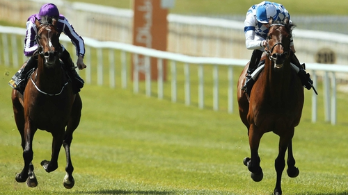 Camelot (l) disappointed when behin Al Kazeem in the Tattersalls Gold Cup and the Prince Of Wales's Stakes at Ascot