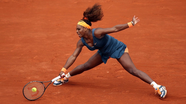 Serena Williams won 56 of the 78 points in her clash against Anna Tatishvili
