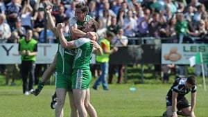 London players celebrate after their historic win over Sligo
