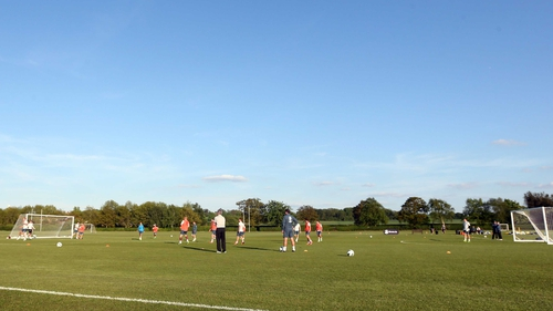 The Republic of Ireland squad trained in a sunny St Albans today ahead of the friendly against England
