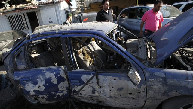 Five people were injured in a Syrian rebel strike against Hezbollah in Beirut