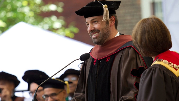 Bne Affleck receives honorary degree from Brown University