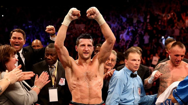 Carl Froch won on points against  Mikkel Kessler