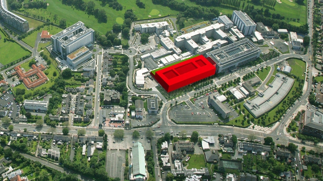 Location of the proposed new National Maternity Hospital at St Vincent's campus