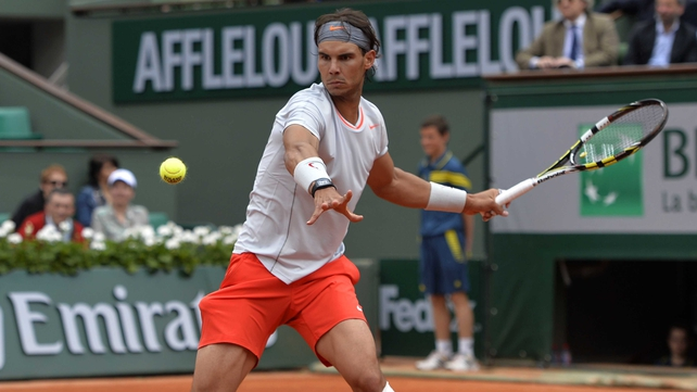 Rafael Nadal looked a shadow of the player who hammered Roger Federer in the final of the Italian Open last week