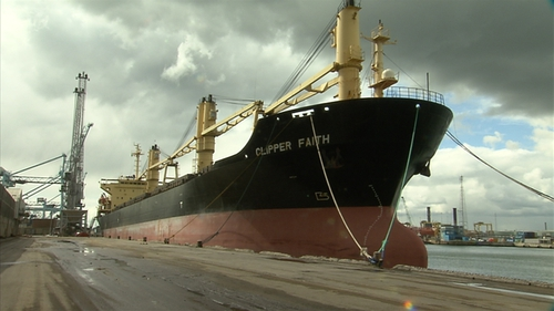 Clipper Faith was seized in Dublin Port in March