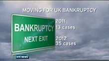 110 people with Irish addresses go bankrupt in UK -  2012