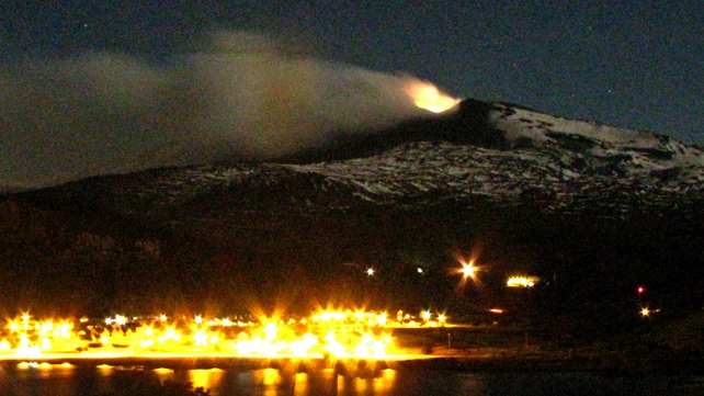 The Copahue volcano spews ashes above Caviahue, in Neuquen province, Argentina in December 2012