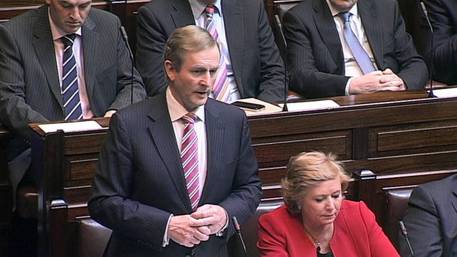 Enda Kenny said the Family Support Bill would be before the Dáil in the coming weeks