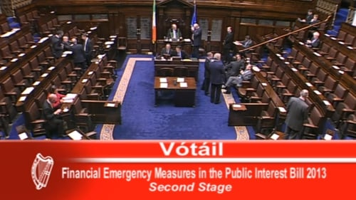 The measure was supported by Fine Gael and Labour, as well as Willie Penrose and Denis Naughten