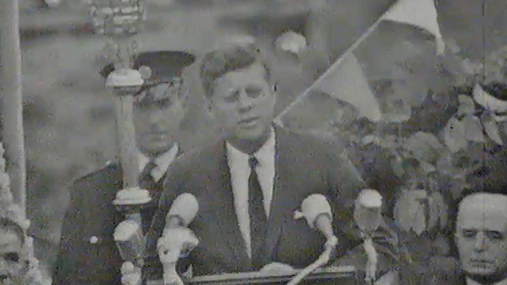 President Kennedy Makes Speech in Galway, 1963