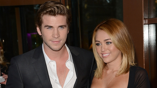Hemsworth and Cyrus - Became engaged in June 2012