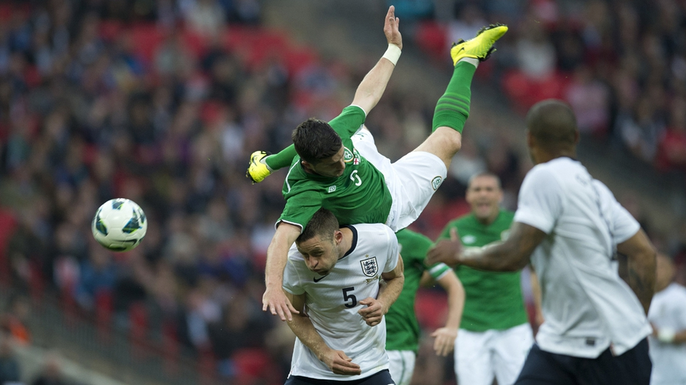 Shane Long scored with a stunning header as Ireland claimed a 1-1 draw with England in a friendly at Wembley in May