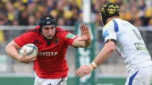 Tommy O'Donnell in action against Clermont Auvergne
