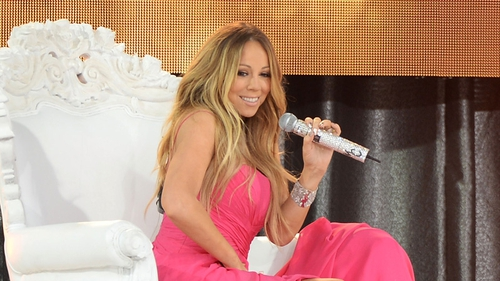 Mariah Carey - performing on Good Morning America last week