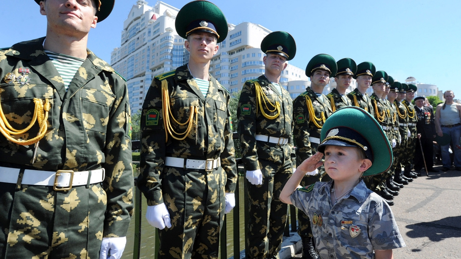 Belarus Border Guards celebrate their agency's day in Minsk