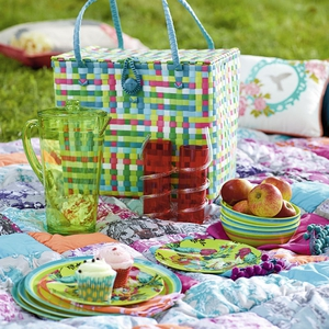 Selection of bright picnic attire, various prices, available from Debenhams.