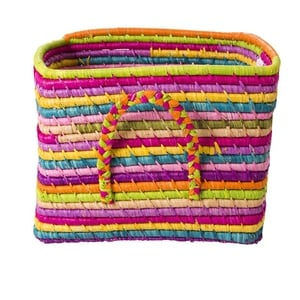 Small, colourful square basket, €46, available from Debenhams.
