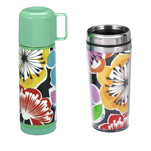 Flask and water bottle, sold separately, available in Paperchase concessions and on Paperchase.co.uk