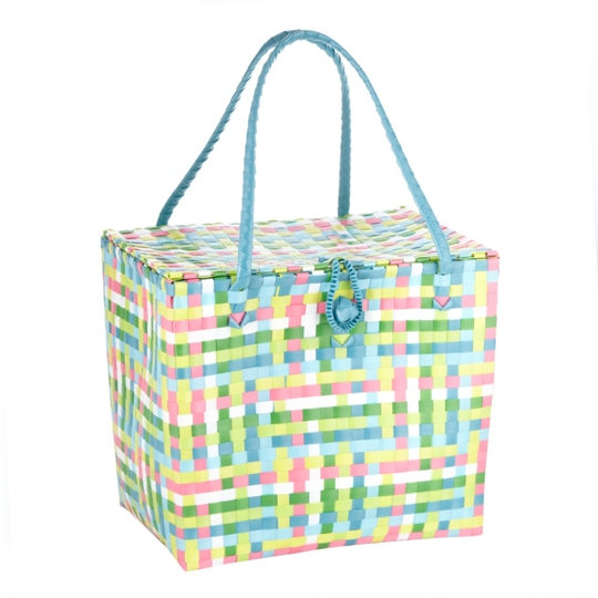 Butterfly by Matthew Willliamson Blue plastic woven picnic basket €40, available from Debenhams.
