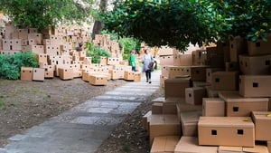 An installation by Professor Bashir Makhoul at the Palestine pavillion at the 55th International Art Exhibition in Venice