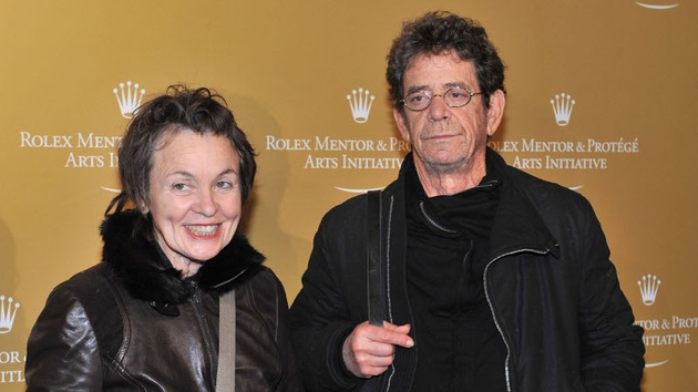 Lou with his wife Laurie Anderson