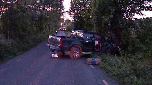 The man was the only occupant of a four-wheel drive vehicle, which hit a tree.