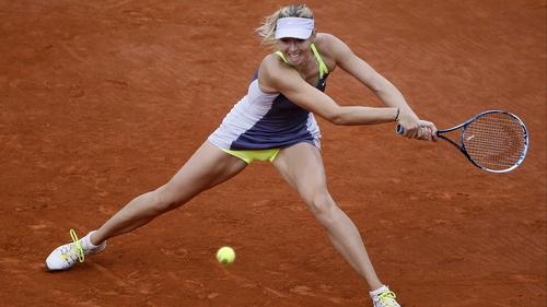 Maria Sharapova on Court Philippe Chatrier today