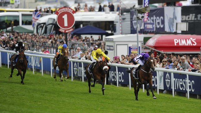 St Nicholas Abbey and Joseph O'Brien pulling clear to win the Coronation Cup at Epsom