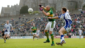 Kerry's Kieran Donaghy gets to the ball first in Killarney against Waterford