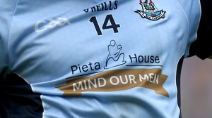 The Dublin jersey had a special message from Pieta House