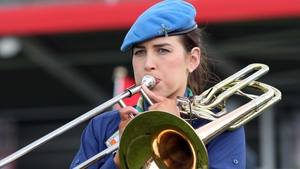 St Michael's CBSI 2nd Fermanagh Scout Band provided the music for Down's 2-17 to 1-15 win