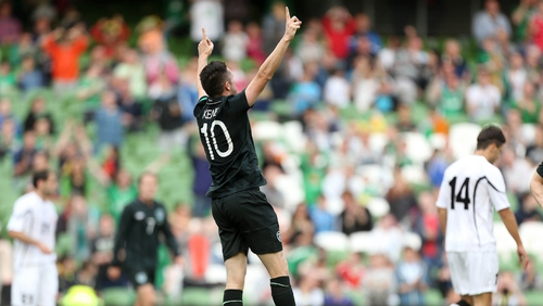 Robbie Keane scored his 55th and 56th international goals; he also equalled Shay Given's 125-cap record
