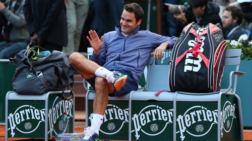 Roger Federer in relaxed mood after victory