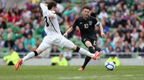 Robbie Keane will aim to add to his goal tally against the Faroes